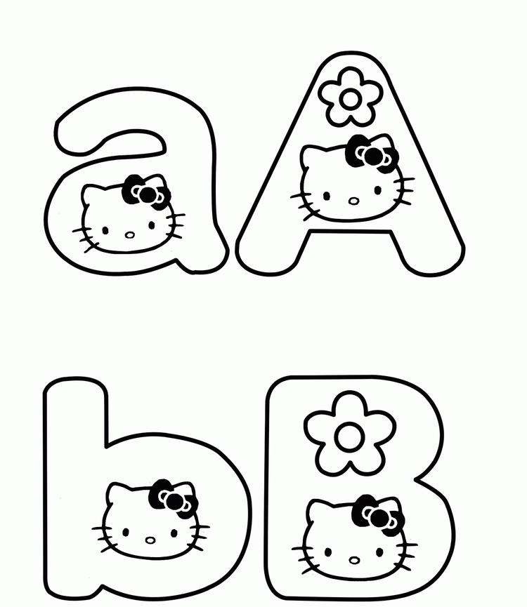 Hello Kitty Alphabet Coloring Pages Printable