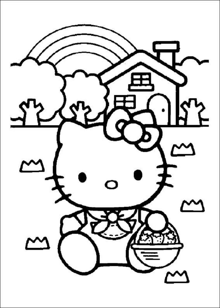 Hello Kitty Coloring Pages A4