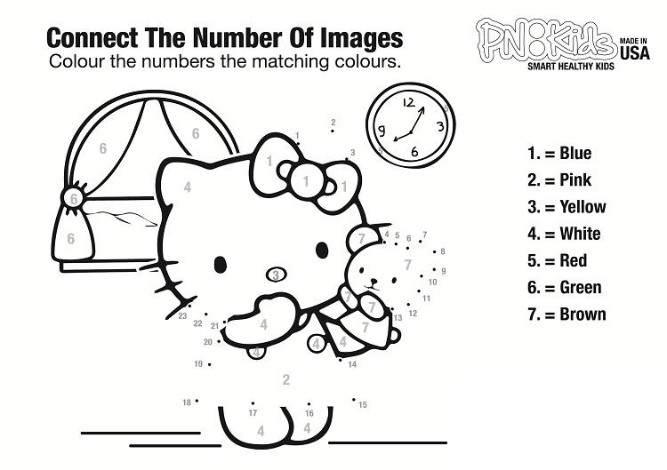 Hello Kitty Coloring Pages By Numbers