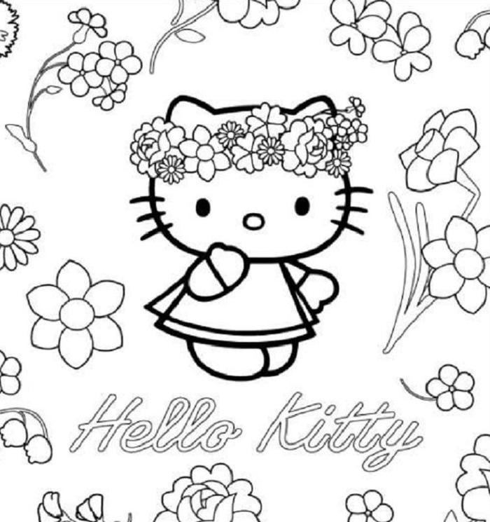 Hello Kitty Coloring Pages For Adults