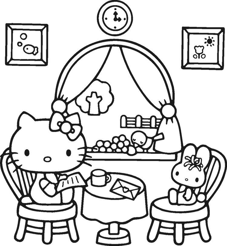 Hello Kitty Coloring Pages Free To Print
