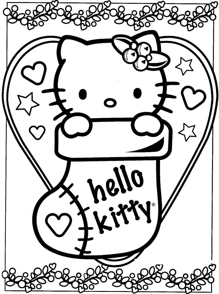 Hello Kitty Coloring Pages Holiday