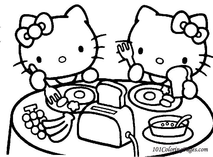Hello Kitty Coloring Pages Printable And Colors 2