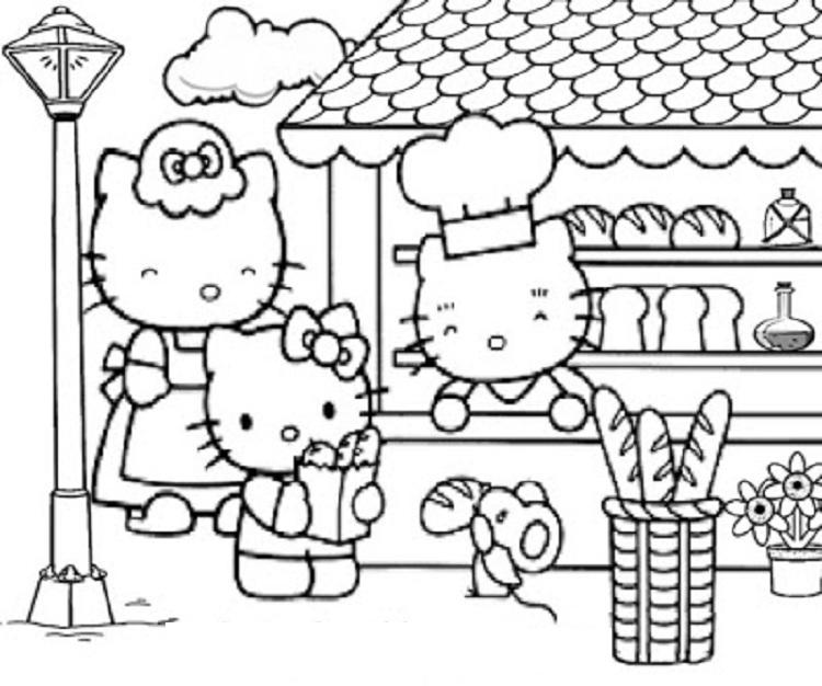 Hello Kitty Coloring Pages Spring