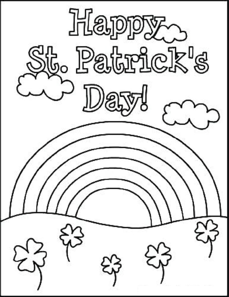 Hello Kitty Coloring Pages St Patricks Day