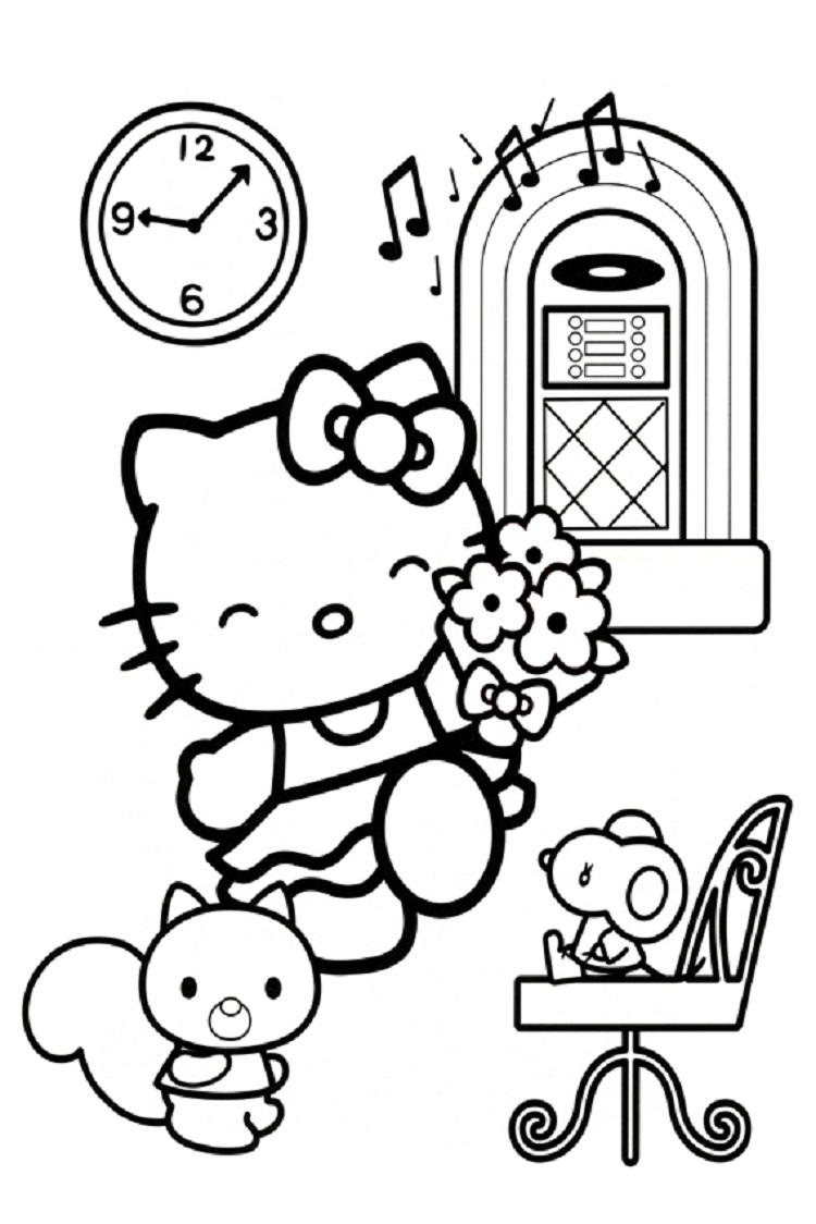 Hello Kitty Coloring Pages To Play