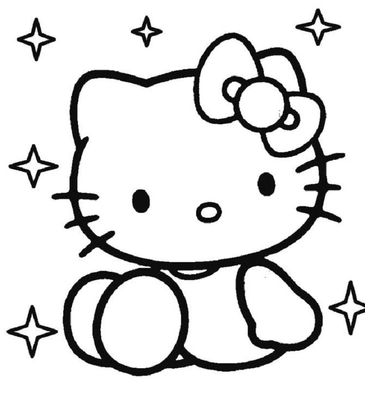 Hello Kitty Coloring Pages With Hearts