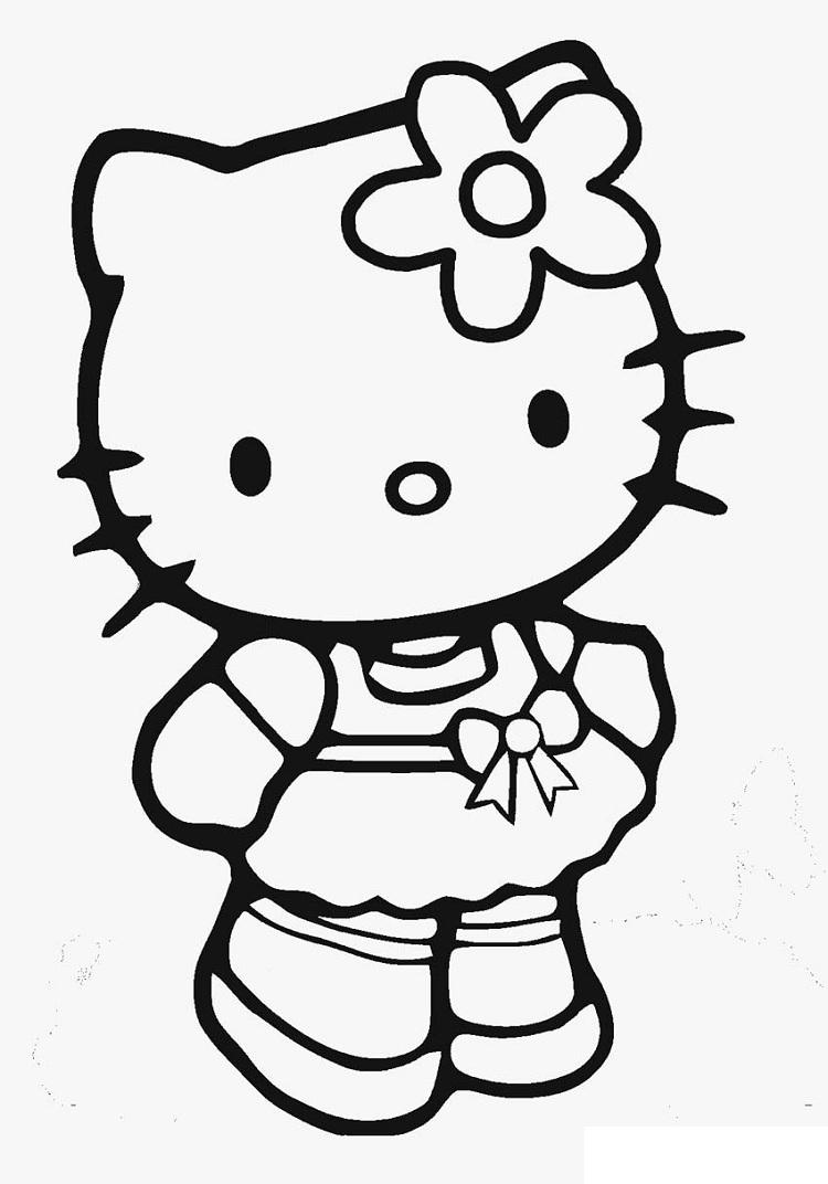 Hello Kitty Hello Coloring Pages