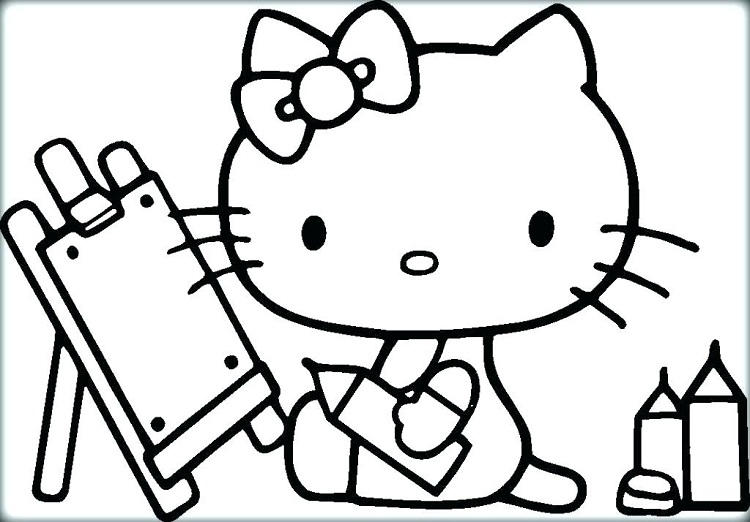 Hello Kitty Math Coloring Pages