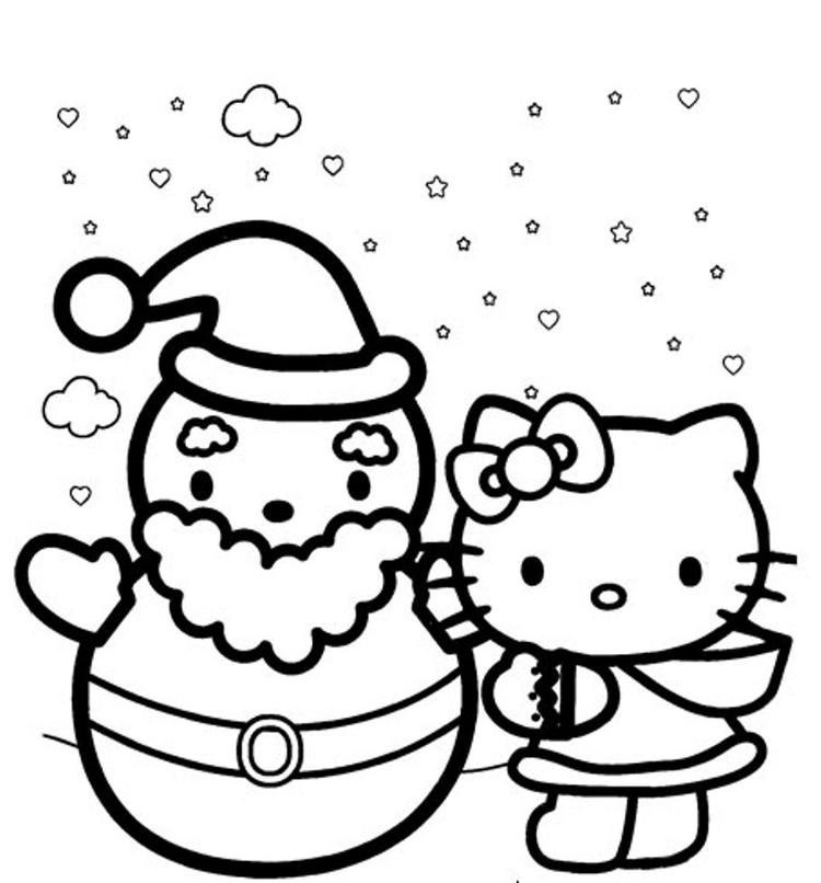 Hello Kitty Winter Themed Coloring Pages1