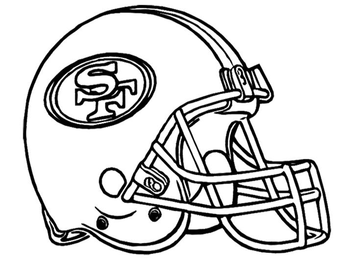 Helmet Of American Football Coloring Pages