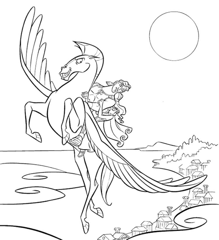 Hercules Cartoon Coloring Pages