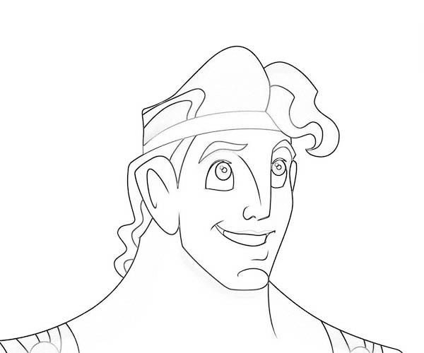 Hercules Smiling Coloring Pages