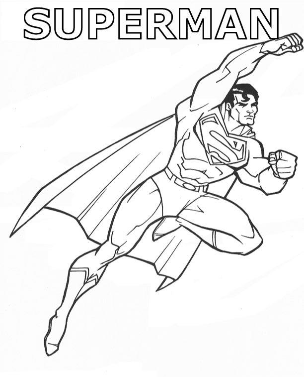 Heroes Superman Coloring Pages For Kids Printable