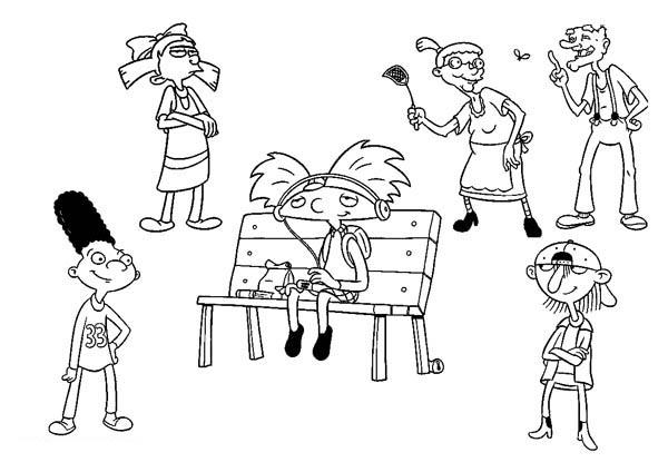 Hey Arnold Coloring Pages For Kids