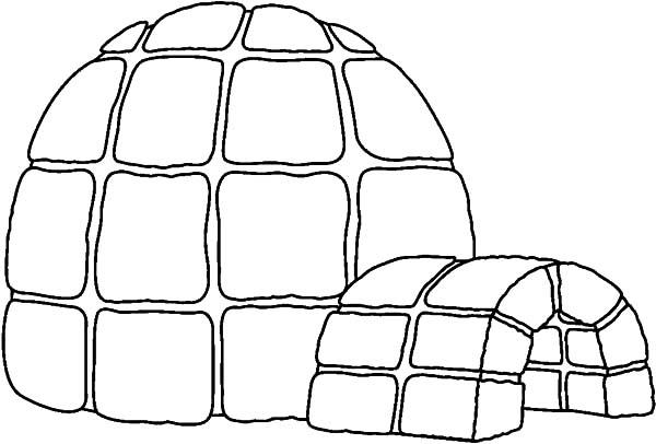 Hide From Snow In Igloo Coloring Pages