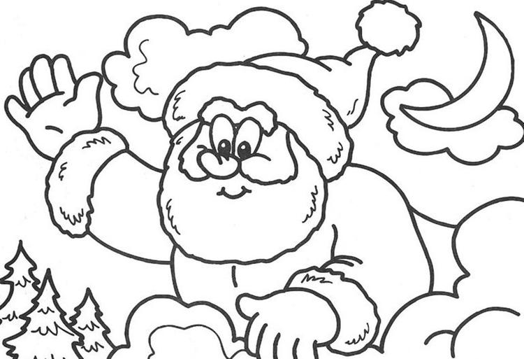 High five santa coloring pages for kids printable