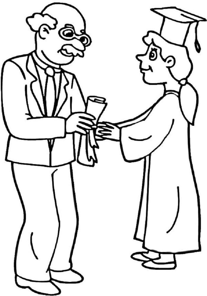 Highschool Graduation Coloring Pages