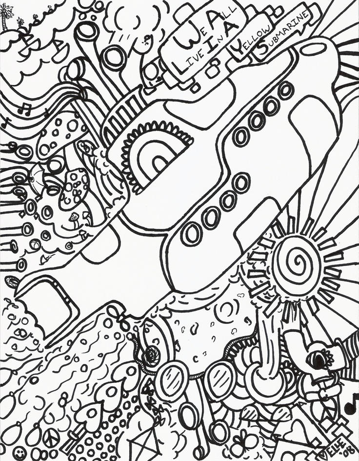 Hippie Coloring Pages Printable