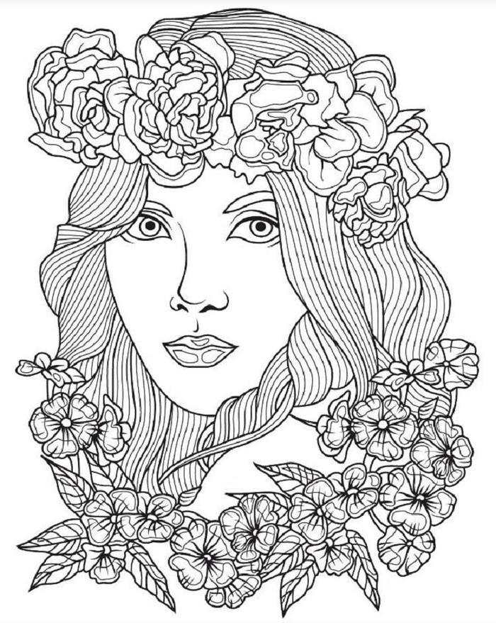 Hipster Hair Style Coloring Pages