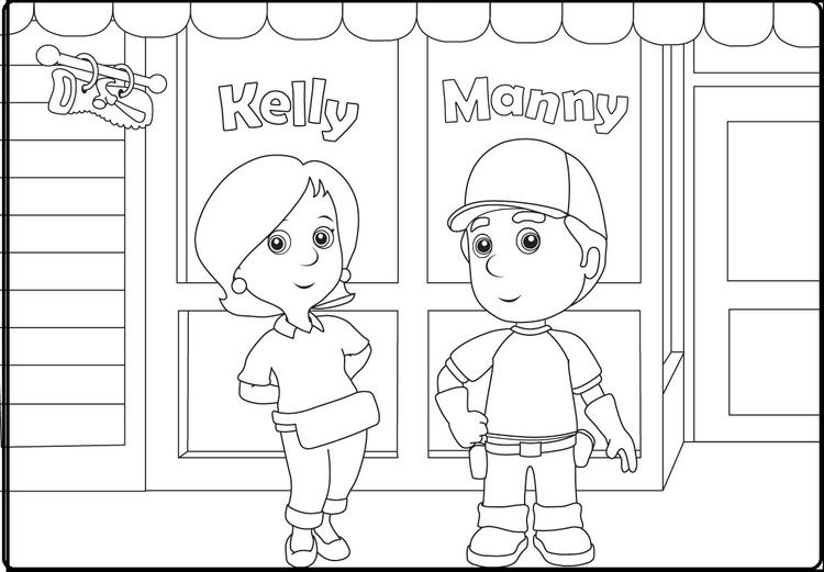 Hm Manny And Kelly Coloring Pages
