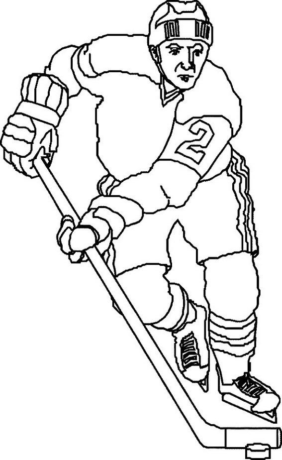 Hockey Coloring And Drawing Page