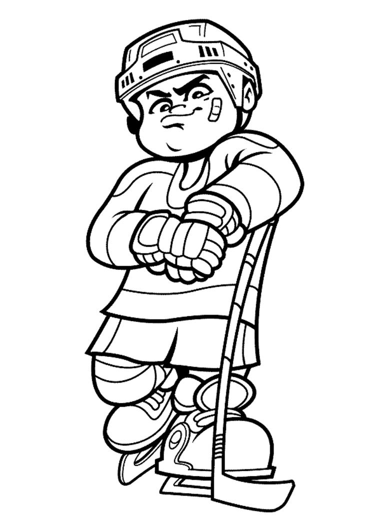 Hockey Coloring Pages For Boys