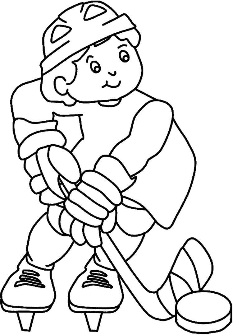 Hockey Coloring Pages For Kids
