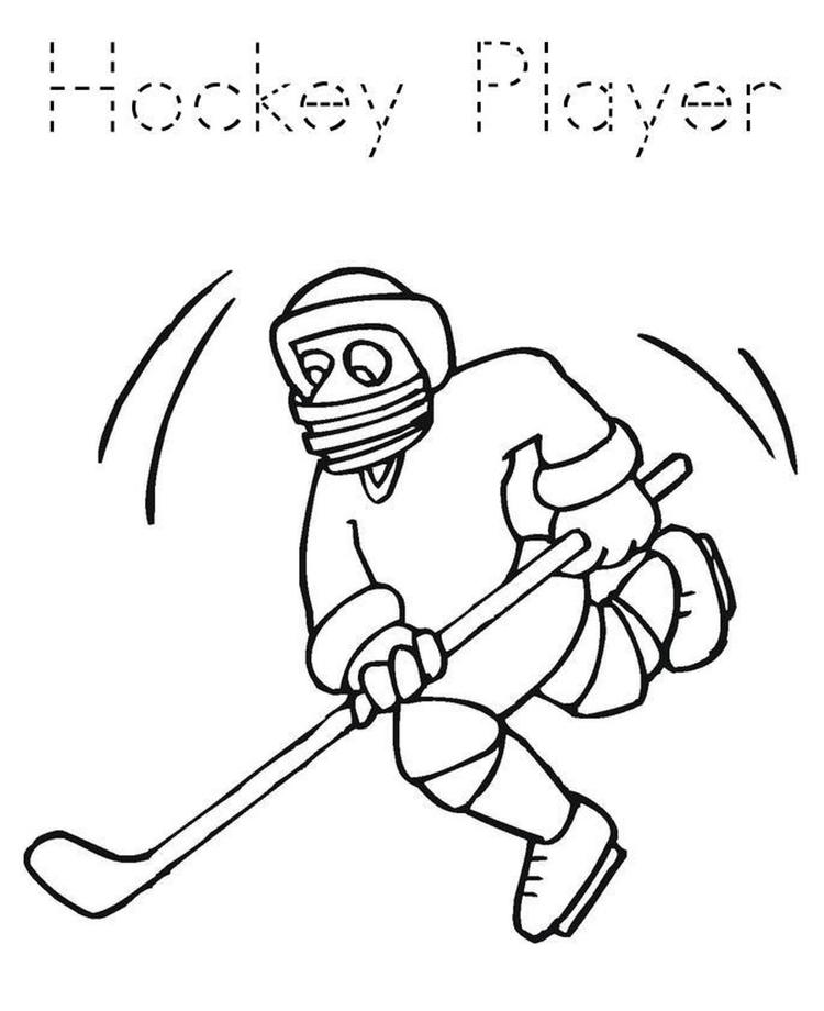 Hockey Coloring Pages Player