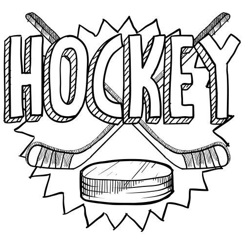 Hockey Coloring Pages Stick And Puck