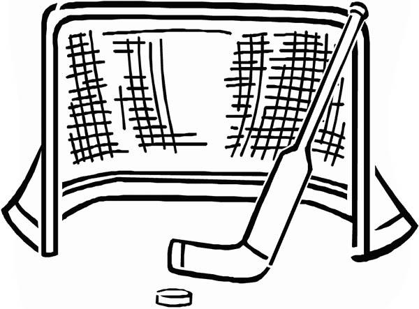 Hockey Coloring Pages Stick Puck And Net