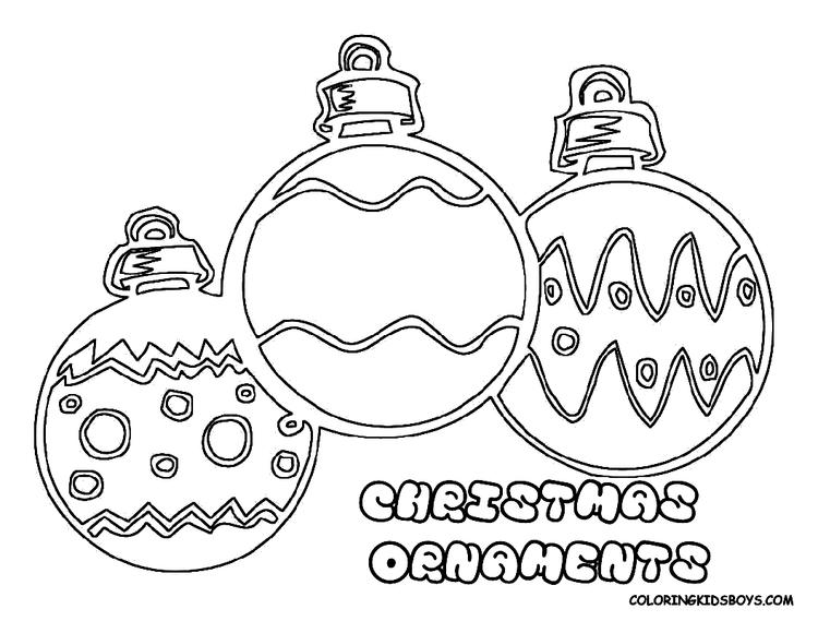 Holiday Ornament Coloring Page Clipart