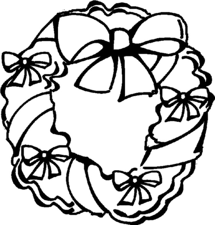 Holiday Wreath Free Coloring Pages For Christmas