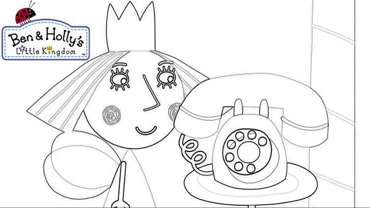 Holly From Ben And Holly Nick Jr Coloring Page
