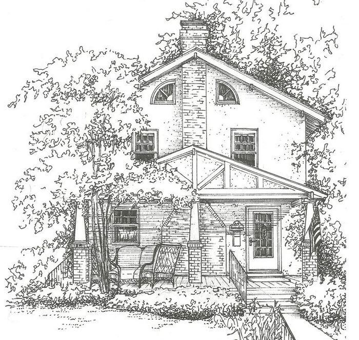 Home And House Coloring Page