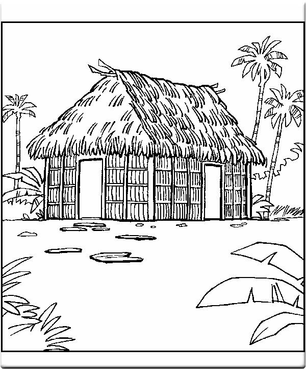 Home Coloring Pages 04