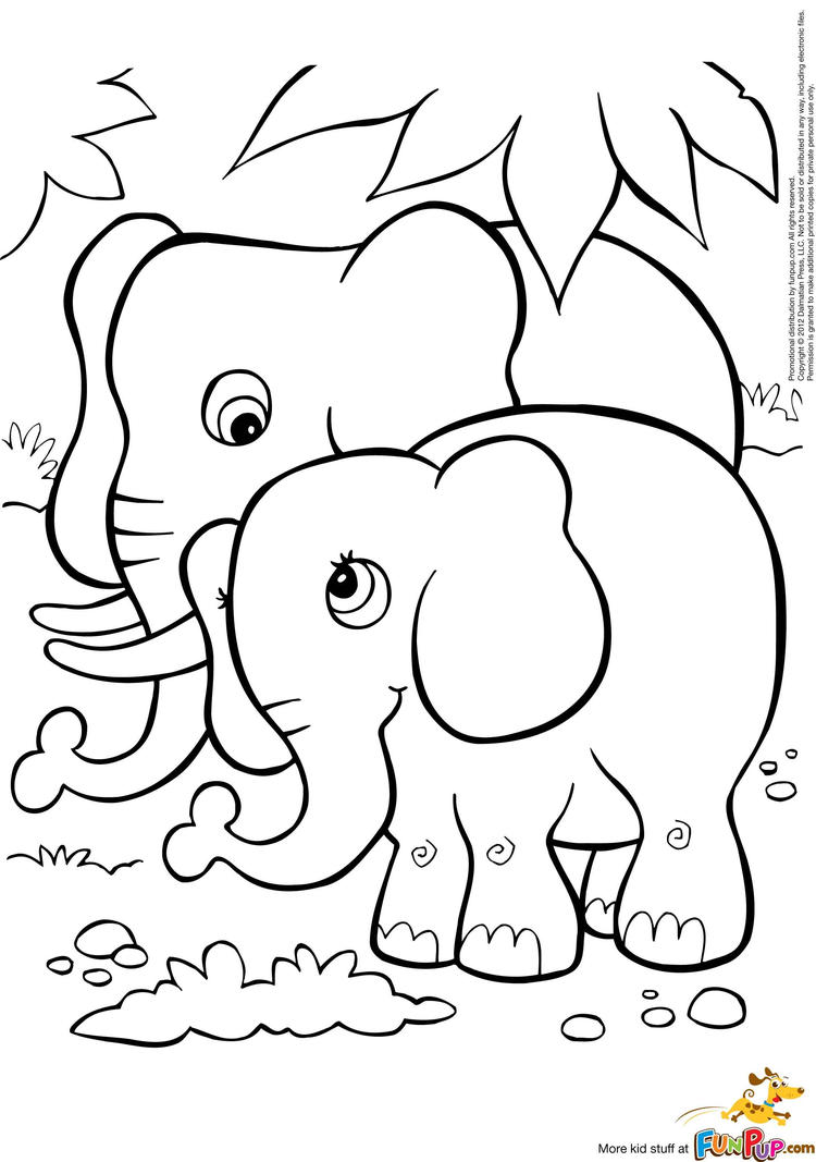 Home Printable Activities Coloring Pages Elephants Free Elephant Pictures To Color