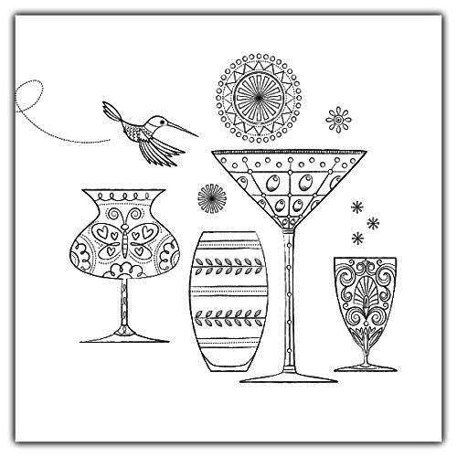 Home Sweet Home Cups In Kitchen Coloring Page