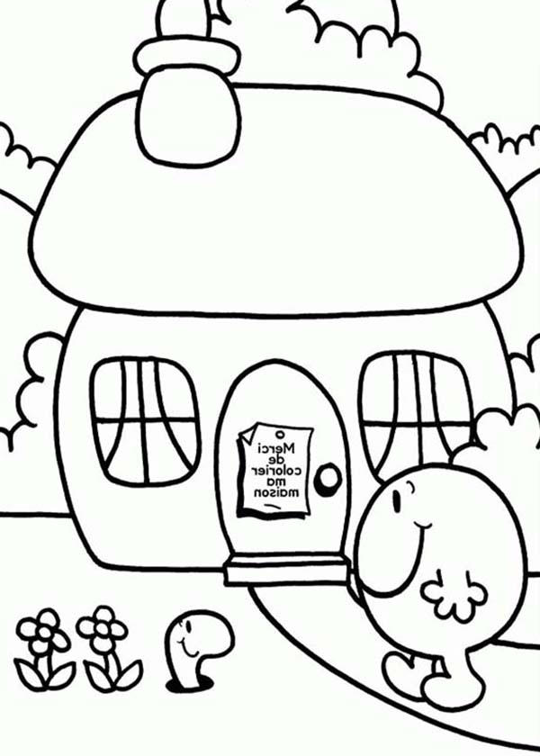 Home Sweet Home In Mr Men And Little Miss Coloring Pages