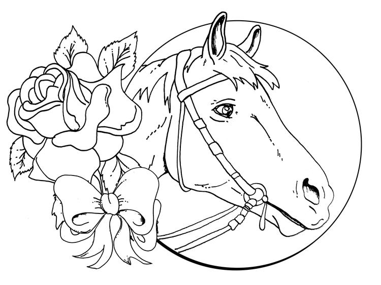 Horse Coloring Pages For Girls