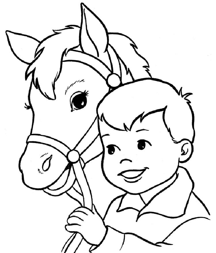Horse Coloring Pages For Preschoolers