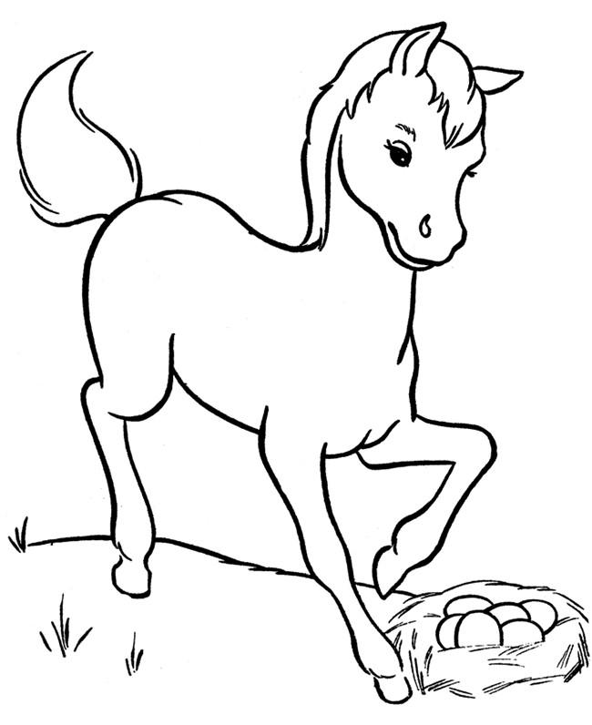 Horse Coloring Pages For Toddler