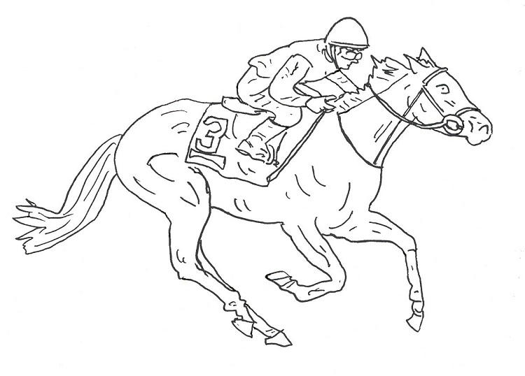 Horse Jockey Coloring Pages