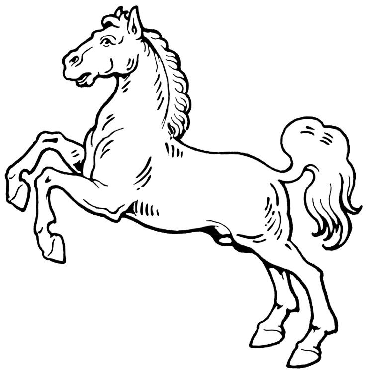 Horse Rearing Up Coloring Pages