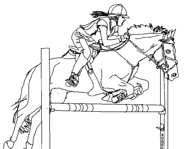 Horse Show Jumping Coloring Pages