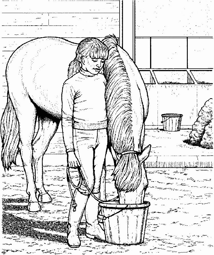 Horse Stable Coloring Pages