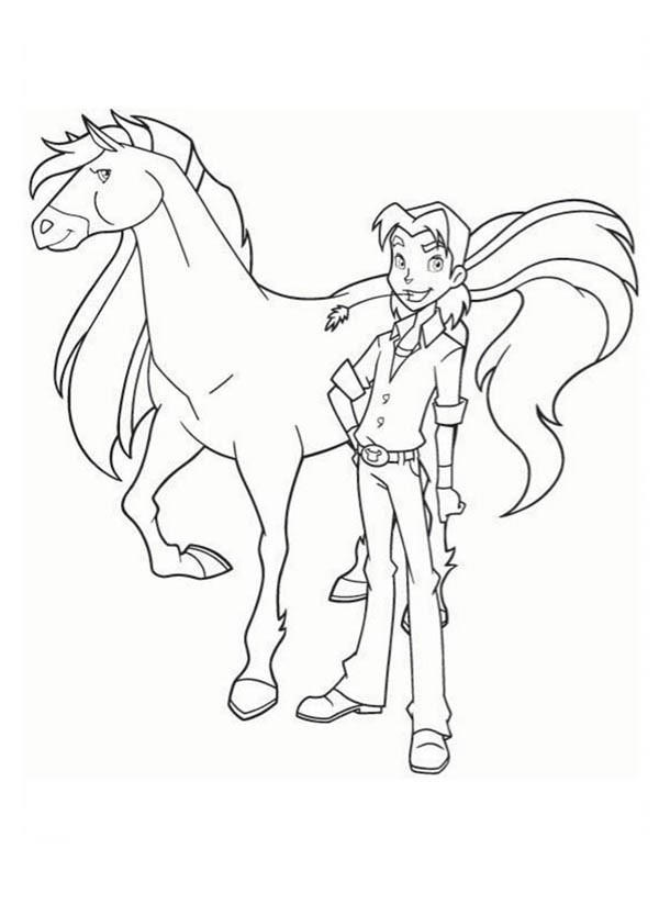 Horseland Coloring Pages Bailey And Aztec