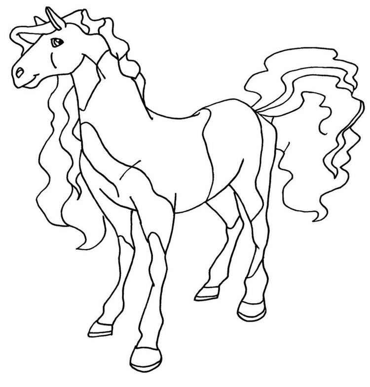 Horseland Coloring Pages Button