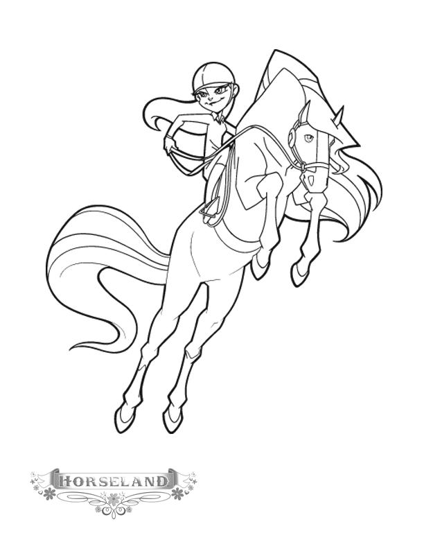 Horseland Coloring Pages Chloe And Chili