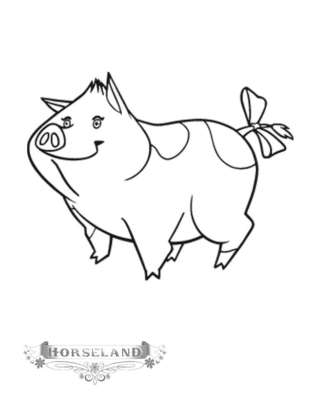 Horseland Coloring Pages Teeny